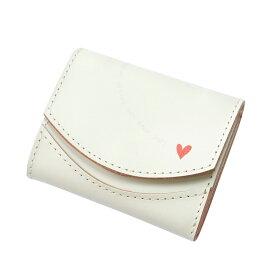 小さいふ。ペケーニョ ホワイトデー「ホワイトハート」ミニ財布 小さい財布 日本製 本革 財布 二つ折り財布 コンパクト ユニセックス