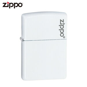 ZIPPO 214ZL ホワイトマット ロゴ ライター ジッポー ジッポ喫煙具 タバコ 煙草 たばこ