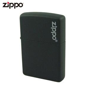 Zippo ジッポー マットカラー ロゴ入り 218ZL Black ブラックマット ライター ジッポ ジッポー 喫煙具 タバコ 煙草 たばこ
