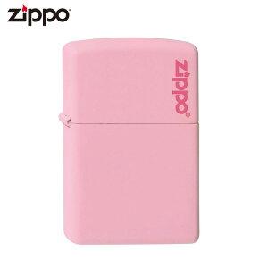 Zippo ジッポー マットカラー ロゴ入り 238ZL ピンクマット ライター ジッポ ジッポー 喫煙具 タバコ 煙草 たばこ