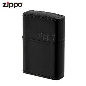 ZIPPO CB-5 ジッポー ジッポライター 革巻き 横ロゴ コードバン ブラック レザー ギフト プレゼント メンズ 喫煙具 タバコ 煙草 たばこ 父の日