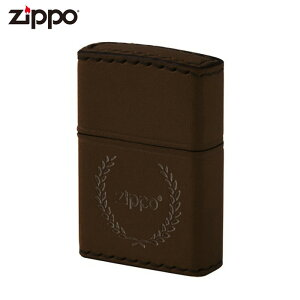 ZIPPO DB-7 ジッポー ジッポライター 革巻き 月桂樹 ロゴ ブラウン レザー ギフト プレゼント メンズ 喫煙具 タバコ 煙草 たばこ 父の日