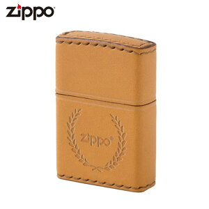 ZIPPO LB-7 ジッポー ジッポライター 革巻き 月桂樹 ロゴ キャメル レザー ギフト プレゼント メンズ 喫煙具 タバコ 煙草 たばこ 父の日
