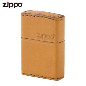 ZIPPO LB-5 ジッポー ジッポライター 革巻き レザー 横ロゴ キャメル ギフト プレゼント メンズ 喫煙具 タバコ 煙草 たばこ 父の日