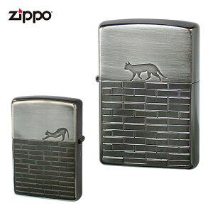 ZIPPO ジッポー 2BN-CATW キャットウォーク ブラックニッケル 猫 ねこ シルエット かわいい ジッポーオイルライター zippo ギフト 父の日