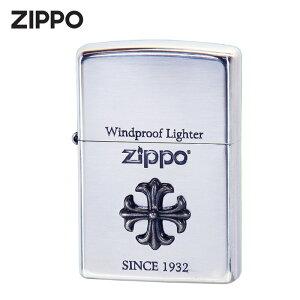 ZIPPO 2CM-1 シルバーイブシ 十字架 クロス ジッポライター ライター ジッポ ジッポー タバコ 煙草 たばこ