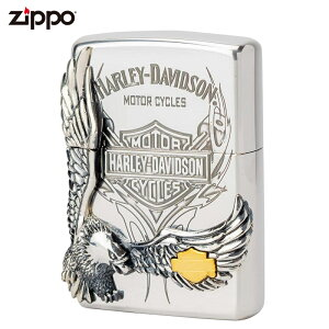 ジッポー ZIPPO ジッポライター ハーレーダビッドソン イーグルメタル HDP-16 喫煙具 喫煙グッズ ライダース ライダー バイク ギフト バイク好き オイルライター おしゃれ プレゼント ギフト 父