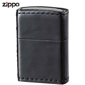 ジッポー ZIPPO コードバン 革巻き ブラック 馬革 本革 ジッポライター 喫煙具 喫煙グッズ オイルライター おしゃれ プレゼント ギフト 父の日 zippo