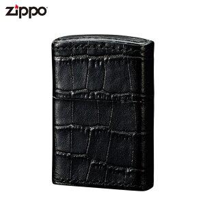 ジッポ ZIPPO ジッポーライター ベーシックレザー サイドクロコ ブラック ZP 革巻きシリーズ 喫煙具 喫煙グッズ オイルライター おしゃれ プレゼント ギフト 父の日