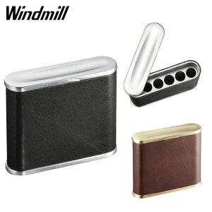 ウインドミル 携帯灰皿 WINDMILL ハニカムミニ 革巻き 5本収納 604-0100 604-0101 革 本革 喫煙具 喫煙グッズ おしゃれ プレゼント ギフト