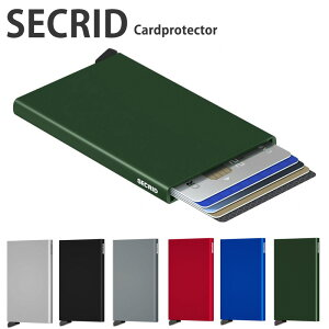 SECRID カードプロテクター コンパクト スキミング防止 カードケース カード入れ メンズ レディース スライド式 父の日