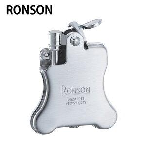 RONSON ロンソン R01-0025 クロームサテン BANJO バンジョー オイルライター フリント式 喫煙具 父の日