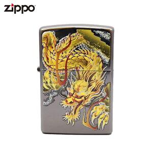ZIPPO ジッポー ブライダルアート 龍 和柄 ブラック bright art ライター Zippo社 純正 オイルライター 父の日 ギフト プレゼント