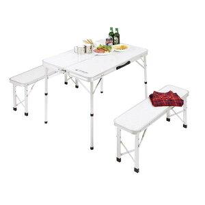 折りたたみ式 キャンプ テーブル チェア セット ラフォーレ ベンチインテーブルセット PUC-0005