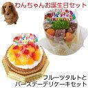わんちゃんお誕生日セット フルーツタルトとバースデーデリケーキセット 送料無料