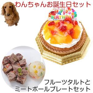 わんちゃんお誕生日ディナーセット フルーツタルトとミートボールプレートセット 送料無料