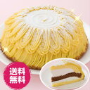 モンブランケーキ 7号 21.0cm バースデー ケーキ 誕生日 ケーキセット・詰合せ 洋菓子 送料無料 誕生 日 アイス birthday cake 冷凍