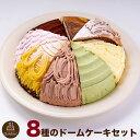 色々と楽しめる! 8種のドーム型ケーキセット 7号 21.0cm カット済み 送料無料(※一部地域除く) 誕生日ケーキ バースデーケーキ