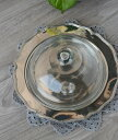 【OUTLET 85 訳あり品】ガラスドーム シルバートレー付 A08338【BlancMariClo イタリア】