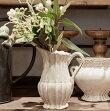 CERAMICVASECOUNTRYNOMAノーマ120-482-100【フラワーベース花器花瓶資材花材陶器雑貨インテリア雑貨ホワイト白アンティーク調】