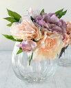 パンプキンボール Lサイズ 822-1【Bobcraft/ボブクラフト/フラワーベース/花器/花瓶/ガラス雑貨/インテリア雑貨/おしゃれ】