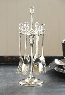 施华洛世奇水晶和餐具勺子、 叉子和刀赫