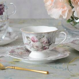 Rose Bouquet ローズブーケ カップ&ソーサー 200ml HM1386【薔薇 フラワー 花柄 フレンチカントリー クラシック・アンティーク調】002