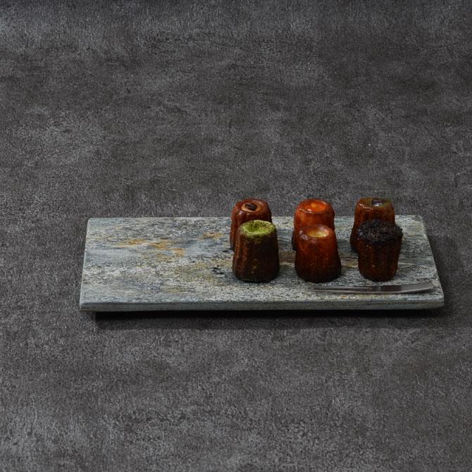 天然石 26cm長角プレート 2色 342 R30【和食器 洋食器 おしゃれ 和モダン おもてなし 角皿 平皿 フラットプレート マーブル模様 大理石模様】