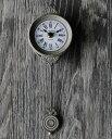 ペンジュラム・ミニクロック(アンティーク・グレー) BR-01【掛時計/振り子時計/ウオールクロック】