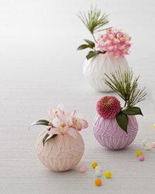 CERAMIC-VASE temari フラワーベース Sサイズ 3色 326-611【花器 花びん 花瓶 フラワーベース 花材 資材】