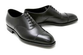 ビジネスシューズ 本革 ストレートチップ キャップトゥ ドレス メンズ ブラック クロケット&ジョーンズ Crockett&Jones メンズ ドレスシューズ 9447bk ブラック オードリー / キャップトゥ