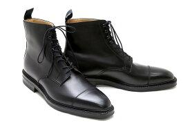 ブーツ メンズ ブラック ブーツ メンズ ブラック 本革 ストレートチップ クロケット&ジョーンズ Crockett&Jones ビジネスブーツ 5648bk ブラック ノースコート レースアップ イギリス製 グッドイヤーウエルト製法