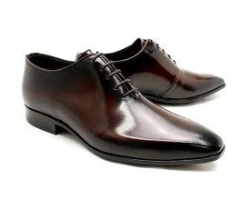 ビジネスシューズ 本革 プレーントゥ ホールカット ドレス メンズ ブラウン 革靴 クインクラシコ QueenClassico メンズ ドレスシューズ 紳士靴 26004br ブラウン(茶色) ホールカット日本製(国産)