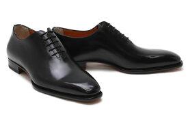 サントーニ / Santoni メンズ ドレスシューズ b03c ホールカット 5アイレット ブラック 24.0cm 24.5cmのみ イタリア製 革靴