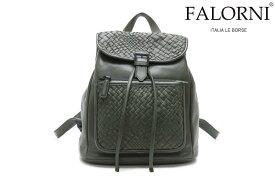 ファロルニ / FALORNI バッグ f22dgr レザーリュック ダークグリーン イタリア製