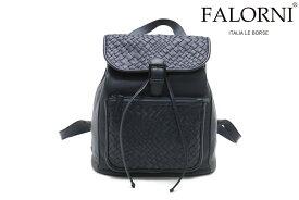 ファロルニ / FALORNI バッグ f22nv レザーリュック ネイビー イタリア製