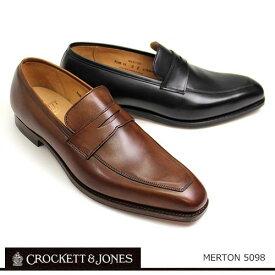 ローファー メンズ カジュアル ブラウン/ブラック クロケット&ジョーンズ CROCKETT&JONES 靴 メンズ ローファー スリッポン Made in England MERTON/5098 シューズ ブラック ブラウン