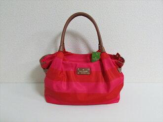 Kate Spade Bag Stevie Cambridge Stripe Nylon Red Back Wkru1672 Dsrtrosred