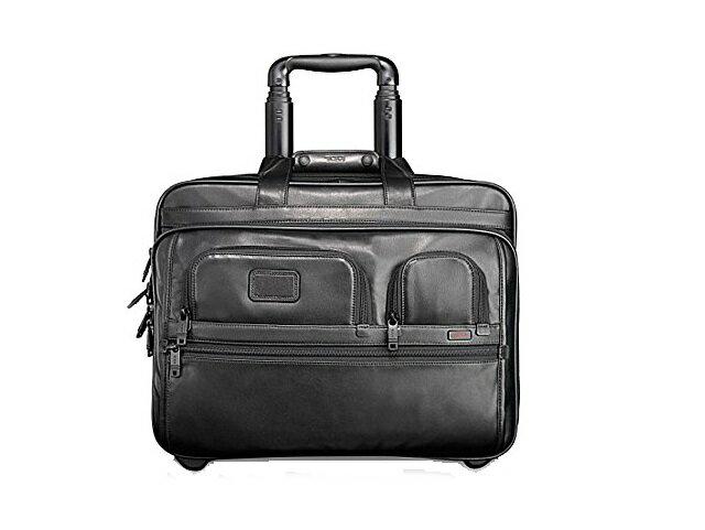 【スペシャル】トゥミ TUMI バッグ アルファ デラックス ホイール レザー ブリーフ ブラック【新品】Tumi バック Alpha Deluxe Wheeled Leather Brief with Laptop Case black