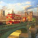 ジグソーパズル1000ピース ジグソーパズル ロンドンバス London Bus 風景パズル サイズ735×510mm 付属品 パズル パズ…