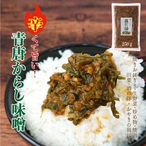 青唐からし味噌 250g【ごはんのおとも】常備菜 保存食 味噌 辛い 調味料