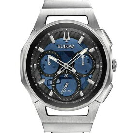 BULOVA ブローバ カーブ クロノグラフ メンズ腕時計 クォーツ メタル 送料無料 96A205 ラッピング無料 あす楽