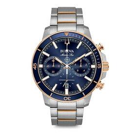BULOVA ブローバ マリンスター クロノグラフ クォーツ メンズ腕時計 送料無料 98B301 ラッピング無料 あす楽