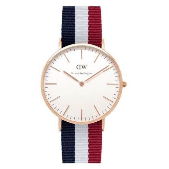【送料無料】 国内正規品 Daniel Wellington ダニエルウェリントン ローズ Classic Cambridge ケンブリッジ メンズ腕時計 40mm 0103DW【新品】