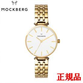 MOCKBERG モックバーグ Original 34 / IPG cross-linked strap white dial クォーツ レディース腕時計 送料無料 MO521 ラッピング無料