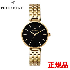 MOCKBERG モックバーグ Original 34 / IPG cross-linked strap black dial クォーツ レディース腕時計 送料無料 MO522 ラッピング無料