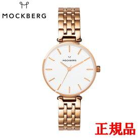 MOCKBERG モックバーグ Original 34 / IPRG cross-linked strap white dial レディース腕時計 送料無料 MO523 ラッピング無料