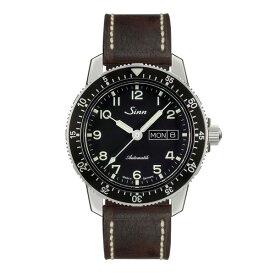 【豪華ノベルティ進呈】 正規品 Sinn ジン 自動巻き メンズ腕時計 カウレザーストラップ 送料無料 104.ST.SA.A ラッピング無料