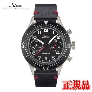【予約販売】正規品Sinnジン自動巻きクロノグラフメンズ腕時計世界限定500本カウレザーストラップ送料無料158