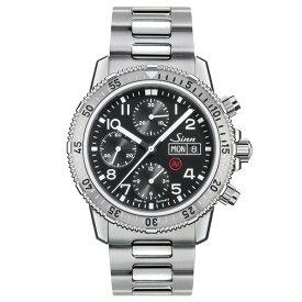 【豪華ノベルティ進呈】 正規品 Sinn ジン 自動巻き クロノグラフ 3連ブレスレット メンズ腕時計 送料無料 206.ST.AR あす楽